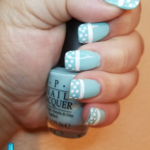 Robin's Egg Blue with Polka Dots